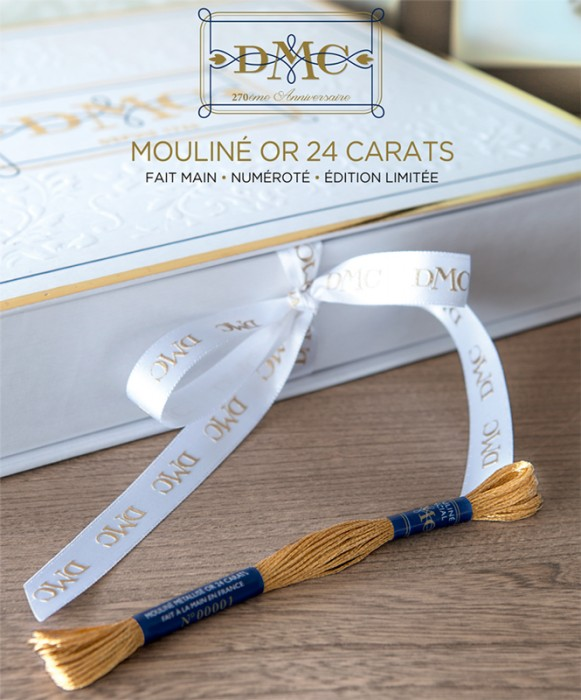 Coffret mouliné Or 24 carats