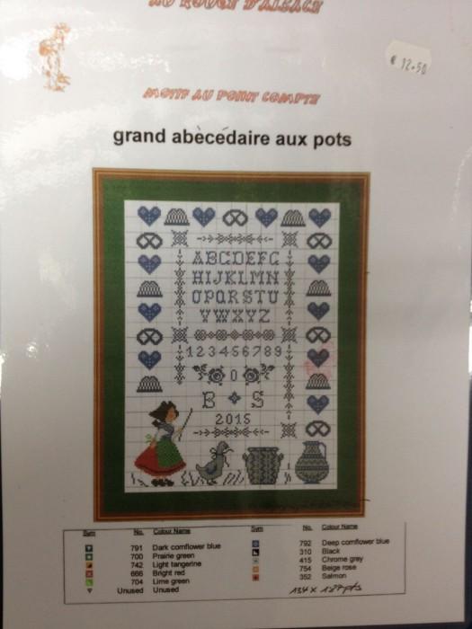 Grand Ab  c  daire Aux Pots  Diagramme  Broderie Alsacienne