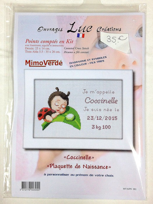 Kit en point comptés   << Coccinelle>>