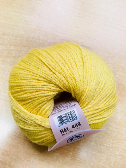 Laine 100% Baby 489-9 col: 092 jaune moutarde